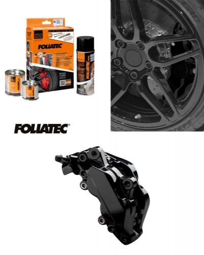 Foliatec Car Motorbike Brake Caliper Paint Kit Black Gloss Brush On High Temp